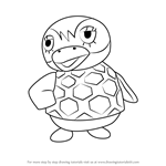 How to Draw Flo from Animal Crossing