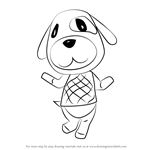 How to Draw Goldie from Animal Crossing