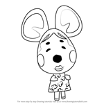 How to Draw Greta from Animal Crossing