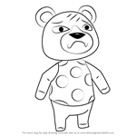 How to Draw Groucho from Animal Crossing