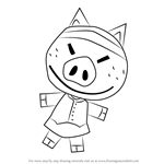 How to Draw Hambo from Animal Crossing