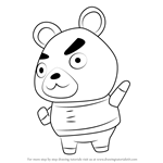 How to Draw Hamphrey from Animal Crossing