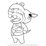 How to Draw Harry from Animal Crossing