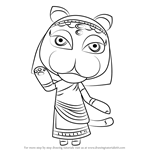 How to Draw Katrina from Animal Crossing