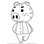 How to Draw Kevin from Animal Crossing