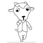 How to Draw Kidd from Animal Crossing