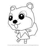 How to Draw Kit from Animal Crossing