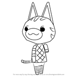 How to Draw Lolly from Animal Crossing