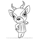 How to Draw Lopez from Animal Crossing