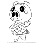 How to Draw Lucy from Animal Crossing