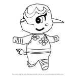 How to Draw Margie from Animal Crossing