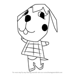 How to Draw Megumi from Animal Crossing