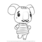 How to Draw Melba from Animal Crossing