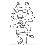 How to Draw Mott from Animal Crossing