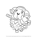 How to Draw Muffy from Animal Crossing