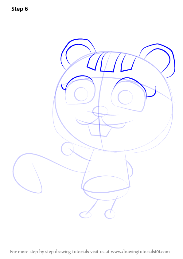 Step By Step How To Draw Nibbles From Animal Crossing