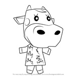 How to Draw Norma from Animal Crossing