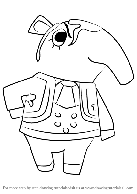Learn How To Draw Olaf From Animal Crossing Animal Crossing Step By Step Drawing Tutorials
