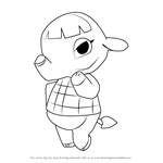 How to Draw Opal from Animal Crossing