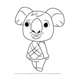 How to Draw Ozzie from Animal Crossing