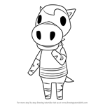 How to Draw Papi from Animal Crossing