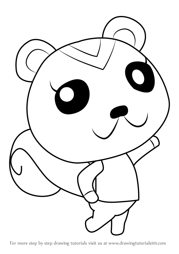 Learn How To Draw Peanut From Animal Crossing Animal Crossing