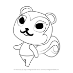 How to Draw Pecan from Animal Crossing