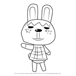 How to Draw Pippy from Animal Crossing
