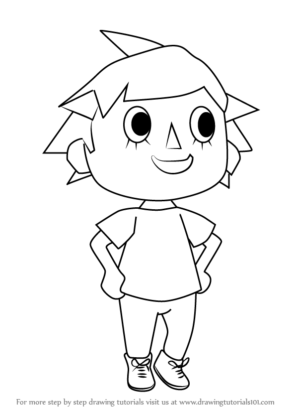 learn how to draw player from animal crossing  animal crossing  step by step   drawing tutorials