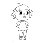 How to Draw Player from Animal Crossing
