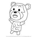 How to Draw Poko from Animal Crossing