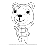How to Draw Poncho from Animal Crossing
