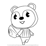 How to Draw Poppy from Animal Crossing