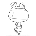 How to Draw Raddle from Animal Crossing