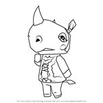 How to Draw Rhonda from Animal Crossing