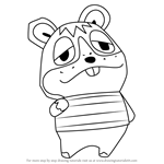How to Draw Rodney from Animal Crossing