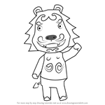 How to Draw Rory from Animal Crossing