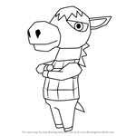 How to Draw Roscoe from Animal Crossing