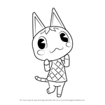 How to Draw Rosie from Animal Crossing