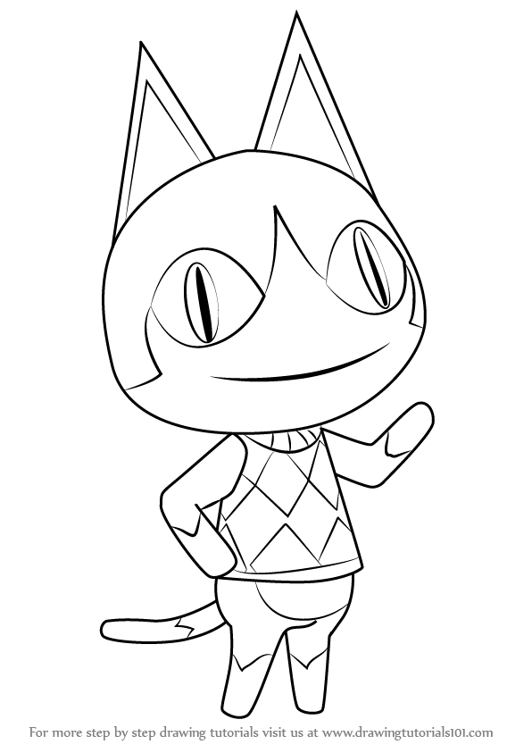 Step By Step How To Draw Rover From Animal Crossing