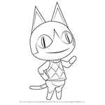 How to Draw Rover from Animal Crossing