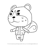 How to Draw Sheldon from Animal Crossing