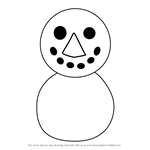 How to Draw Snowman from Animal Crossing