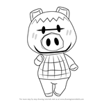 How to Draw Spork from Animal Crossing