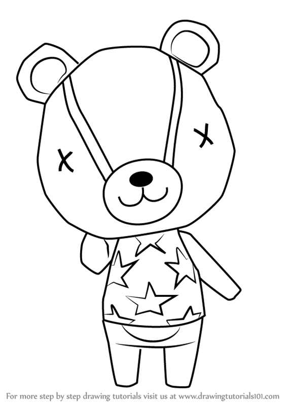 Learn How To Draw Stitches From Animal Crossing Animal Crossing