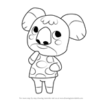 How to Draw Sydney from Animal Crossing