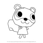 How to Draw Sylvana from Animal Crossing