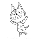How to Draw Tabby from Animal Crossing