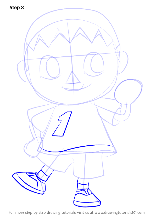 Learn How To Draw The Villager From Animal Crossing Animal
