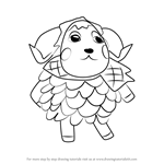 How to Draw Timbra from Animal Crossing